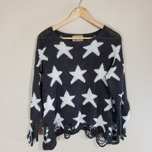Wildfox Destroyed Star Sweater